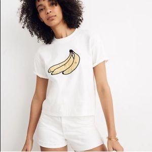 Madewell Banana Bandana Easy Crop Tee